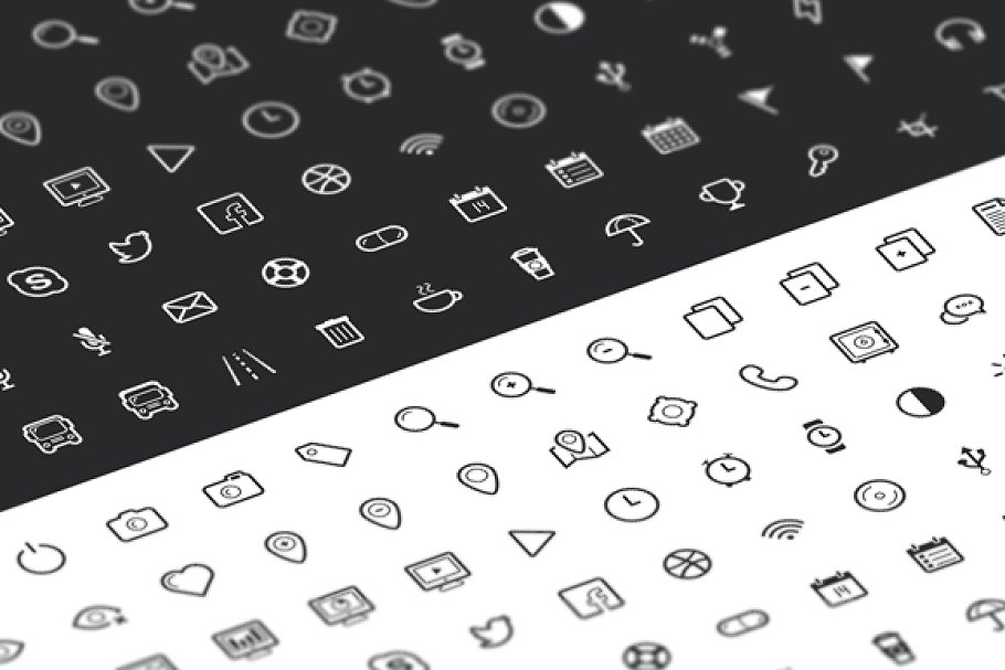 Outline Icon Set 100+