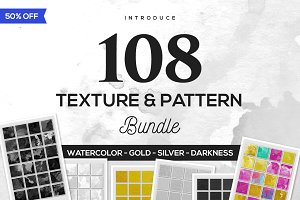108 Texture & Pattern Bundle 50% OFF