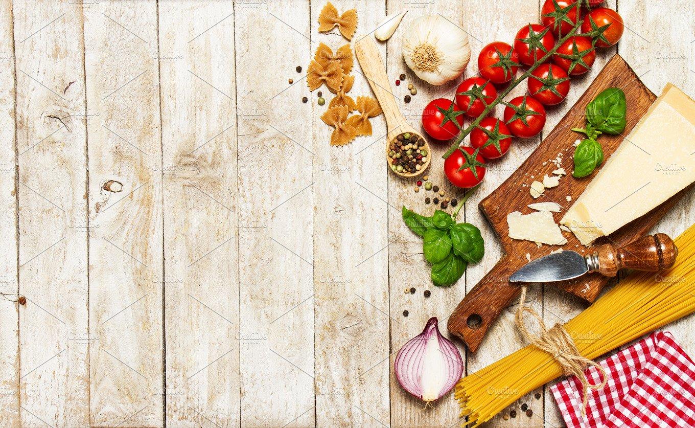 Italian Food Concept, Ingredients