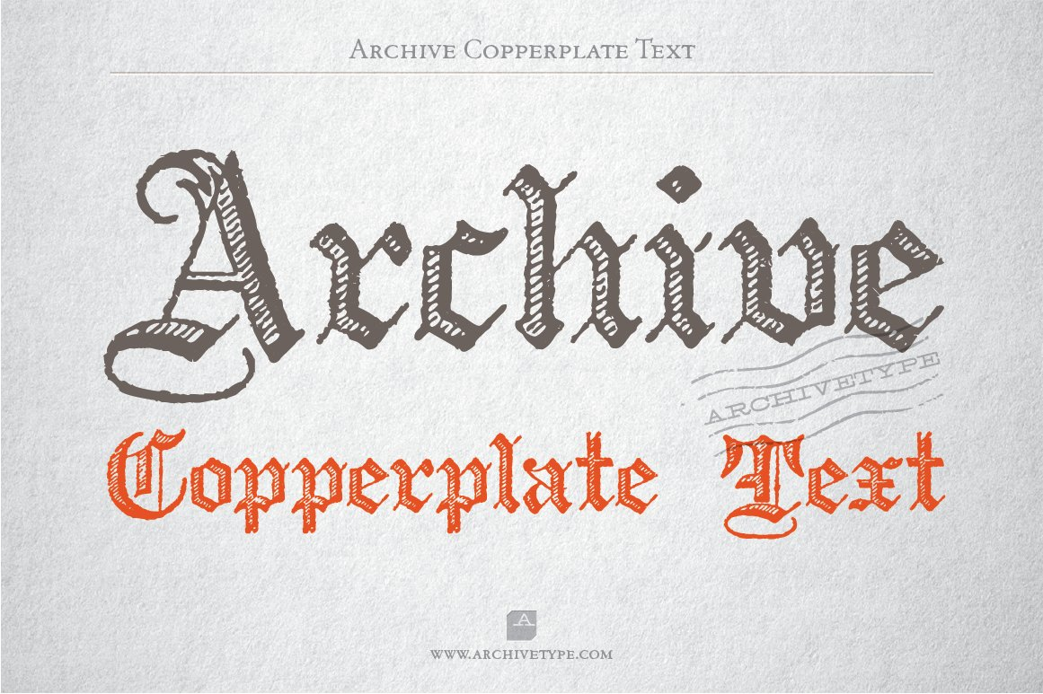 archive copperplate text blackletter fonts creative market
