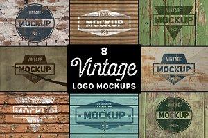 8 Vintage Logo Mockups vol. 2
