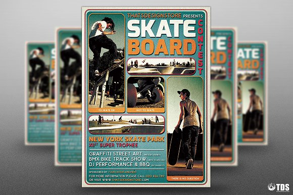 Skating Competition Flyer Template
