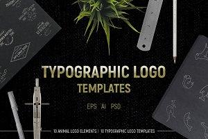 Typographic logo templates