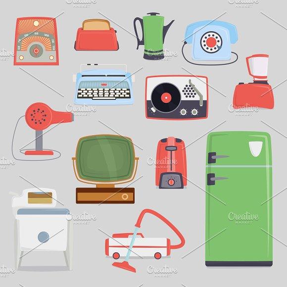 Retro Vintage Household Appliances