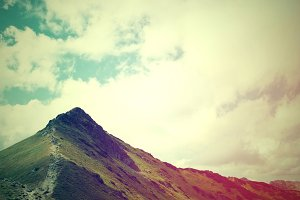 Mountains landscape in vintage color