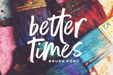 by  in Brush Fonts