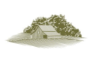 Woodcut Barn in Missouri