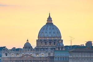 Rome at twilight, Italy