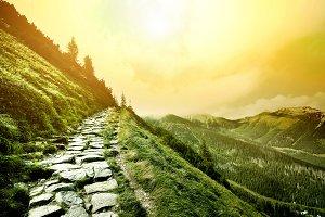 Mountains path.