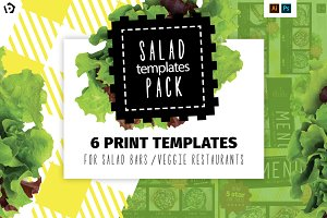 Salad Restaurant Menu Template Pack