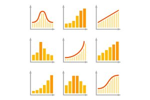 Charts Diagrams and Graphs Icons
