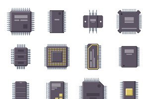 Microchip isolated vector set