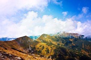 Autumn in Mountains Landscape.