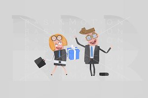 3d illustration. Businesswoman gift.
