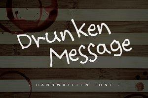 Drunken Message ~ Handwritten Font ~