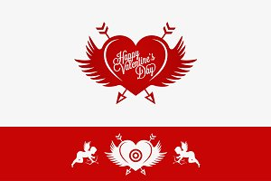 Valentines Day Heart With Wings