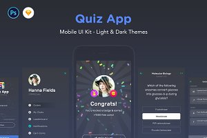 Quiz App - Mobile Trivia Game UI Kit