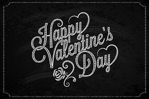Valentines Day Chalk Vintage.