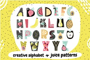 Fruit Alphabet + juice patterns!!!