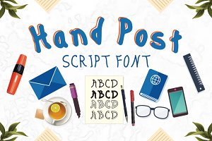 Hand Post 10 Fonts