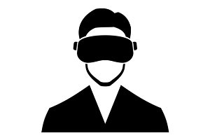 Avatar Virtual Reality Headset Icon