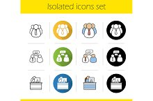 Business and teamwork icons. Vector