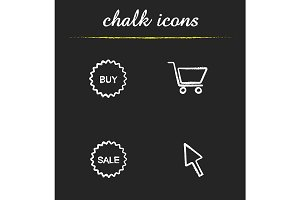 Online shopping. 4 icons. Vector