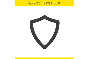 Shield linear icon. Vector