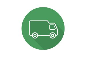 Delivery van icon. Vector