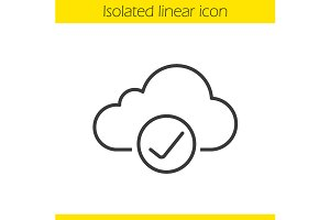 Cloud storage icon. Vector