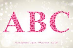 Hearts Alphabet Clipart - Valentine