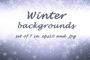 Purple winter backgrounds and banner