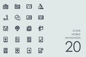 Mobile navigations icons