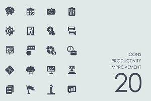 Productivity improvement icons