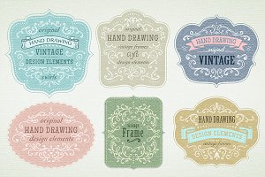 *13* Set of Vintage labels