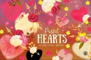 Pastel Hearts
