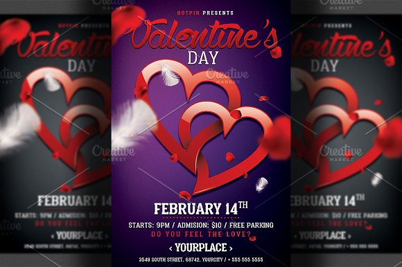Valentines Day Party Flyer Template in Flyer Templates