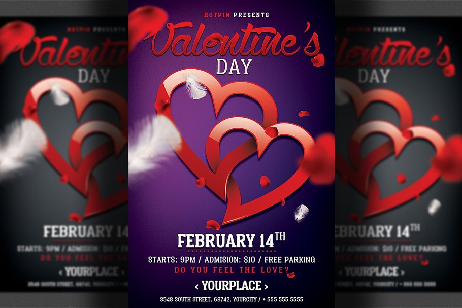 Valentines Day Party Flyer Template in Flyer Templates - product preview 8