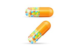 Vitamine Pills with Granules