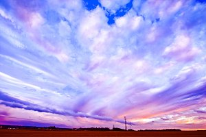 Colorful sky landscape.