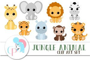 Jungle Animal ClipArt Set