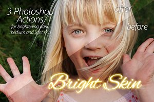 Bright Skin - 3 Photoshop actions