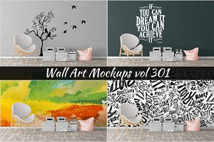 Wall Mockup - Sticker Mockup Vol 301