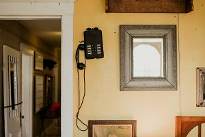 Vintage Telephone on Wall