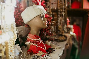 Vintage Mannequin in Red