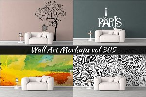 Wall Mockup - Sticker Mockup Vol 305