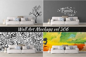 Wall Mockup - Sticker Mockup Vol 306