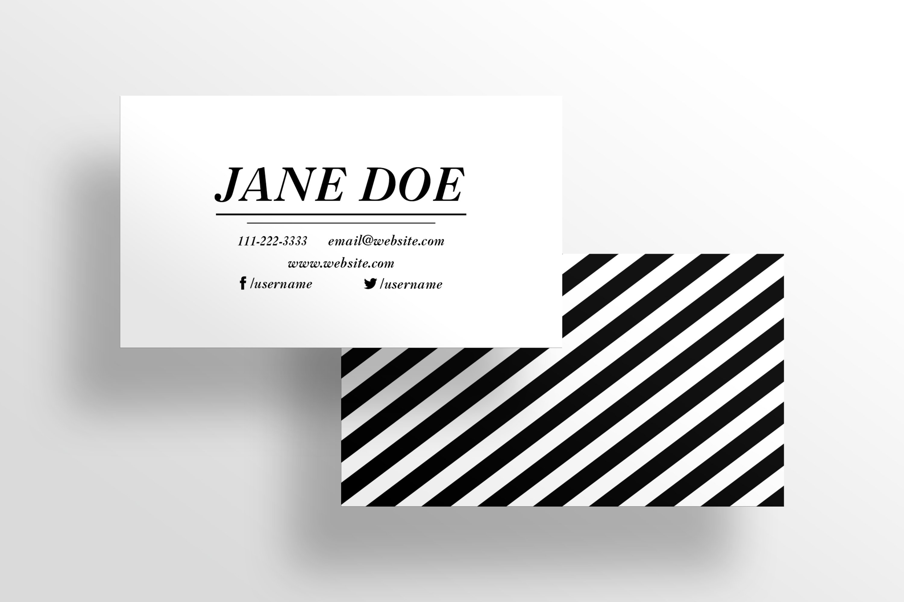 The Boutique -Business Card Template ~ Business Card Templates ...