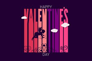 Valentines day vector background.