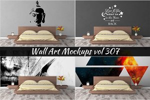 Wall Mockup - Sticker Mockup Vol 307